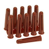 Plastic Expansion Plugs - Red (Pk100)