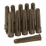 Plastic Expansion Plugs - Brown (Pk100)