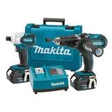 Makita 18v LXT 2 Piece Kit Combi Drill & Impact Driver