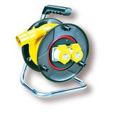 110V 16A Anti-Twist Centre Cable Reel - 25m