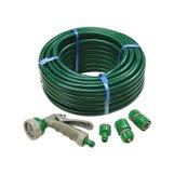 "Garden Hose 1/2"" x 30m c/w 3 hose fitting & multi spray gun"