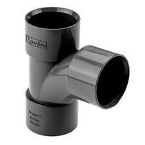 "1 1/4"" / 32mm 92.5 Swept Tee Black Solvent Waste"