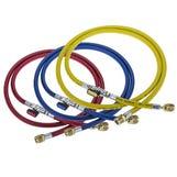 "R410a 5/16"" Charging Hoses 72"" 1.8m c/w ball valves (Set-3)"