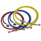 """Charging Hoses 72"""" c/w valves R407c/R22/R134a/R404a (Set-3)"""