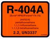 Refrigerant ID Labels R404a - (pk10)