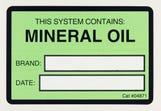 Refrigerant ID Labels (pk 10) Mineral Oil Labels