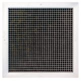 150 x 150mm White Egg Crate Grille - Face Size 195 x 195mm