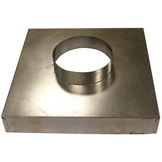 200mm x 200mm Steel Plenum Box - 200mm Spigot