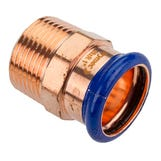 """22mm x 1/2"""" Copper-Press Male Iron Adapter (M-Profile)"""