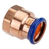 """15mm x 1/2"""" Copper-Press Female Adapter (M-Profile)"""