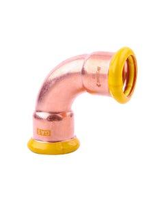 22mm 90 F/F Gas Copper-Press Bend (M-Profile)