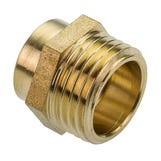 End Feed Male Iron Coupler - 15mm x 1/2""