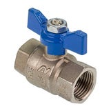 "1/2"" FxF Red & Blue Butterfly Handle Full Bore Ball Valve"