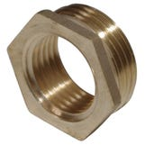 "Brass Hexagon 1/4 x 1/8"" Reducing Bush"