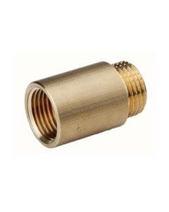 "Brass Tap Extension 1/2"" (22mm long)"