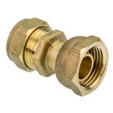 """Compression 22mmx3/4"""" Straight Tap Connector"""