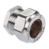 Chrome Compression End Cap - 22mm