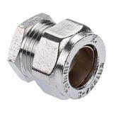 Chrome Compression End Cap - 22mm
