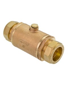 35mm Bronze Double Check Valve with Compression Ends