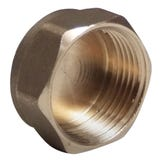 """3/8"""" Brass Cap - BSP Pipe Fitting"""
