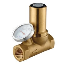 "1/2"" Thermal Balancing Valve Brass FxF WRAS with Gauge"