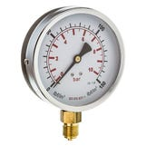"100mm Pressure Gauge 0-6 Bar 3/8"" Bottom Connection"