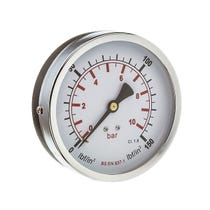 "100mm Pressure Gauge 0-6 Bar 3/8"" Back Connection"