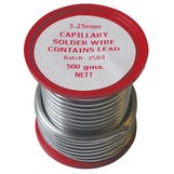 Lead Bearing Solder - 3mm x ½Kg (Professional Use Only)