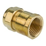 DZR Compression Female Iron Coupler - 15mm X 1/2""