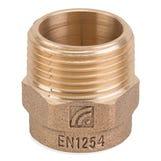 "Bronze Male Iron Coupler - 15mm x 1/2"""