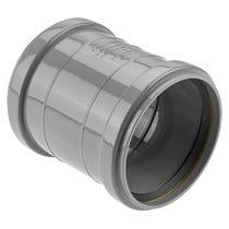 "4""/110mm Double Socket Coupler Ringseal Grey"