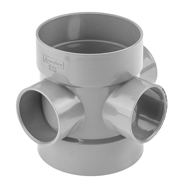 110 mm T Double Socket 4 inch Storm Sewer Foul Waste Drainage 90°Branch
