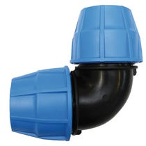 MDPE Compression 90° Elbow - 25mm