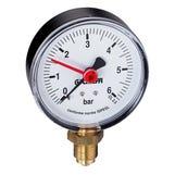 """Pressure Gauge 0-4 Bar 1/4"""" Bottom Connection (50mm dia.)"""