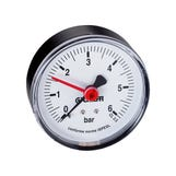 """Pressure Gauge 0-6 Bar 1/4"""" Back Connection (50mm dia.)"""
