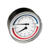 80mm Temp & Pressure Gauge 6Bar/120°C back connection
