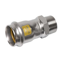 "22mm x 3/4"" NiroSan Gas Male Adapter"