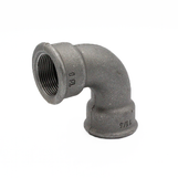 """1 1/2"""" FxF Short Bend Black Malleable 193/2A/D1"""