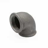 """4"""" FxF 90 Elbow Black Malleable 151/90/A1"""