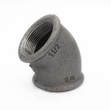 """1 1/2"""" FxF 45 Elbow Black Malleable 155/120/A1-45"""
