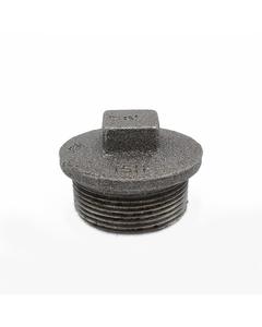 """1 1/2"""" Plain Plug Black Malleable - Hollow 147/290/T8"""
