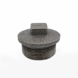"""1 1/4"""" Plain Plug Black Malleable - Hollow 147/290/T8"""