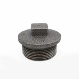 """3"""" Plain Plug Black Malleable - Hollow 147/290/T8"""