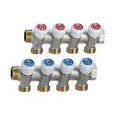"""3/4""""Brass Single Manifold WRAS 3 Port with zone iso. valves"""
