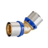 40mm Pexal Brass 45 Bend Multilayer Crimp Fitting