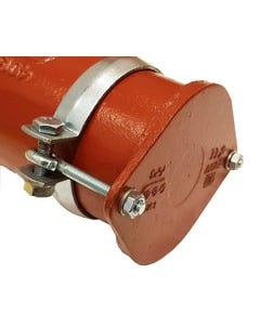 CIS 100mm Plug End Cap c/w fixing clip