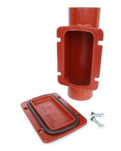CIS 125mm Access Pipe (Rectangular Door)