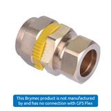 DN20 CSST x 15mm Copper Compression Coupler