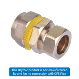 DN20 CSST x 22mm Copper Compression Coupler