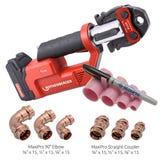 "MaxiPro Starter Kit 1/4-1 1/8"" cw ROMAX TT Tool & 90 Fittings"